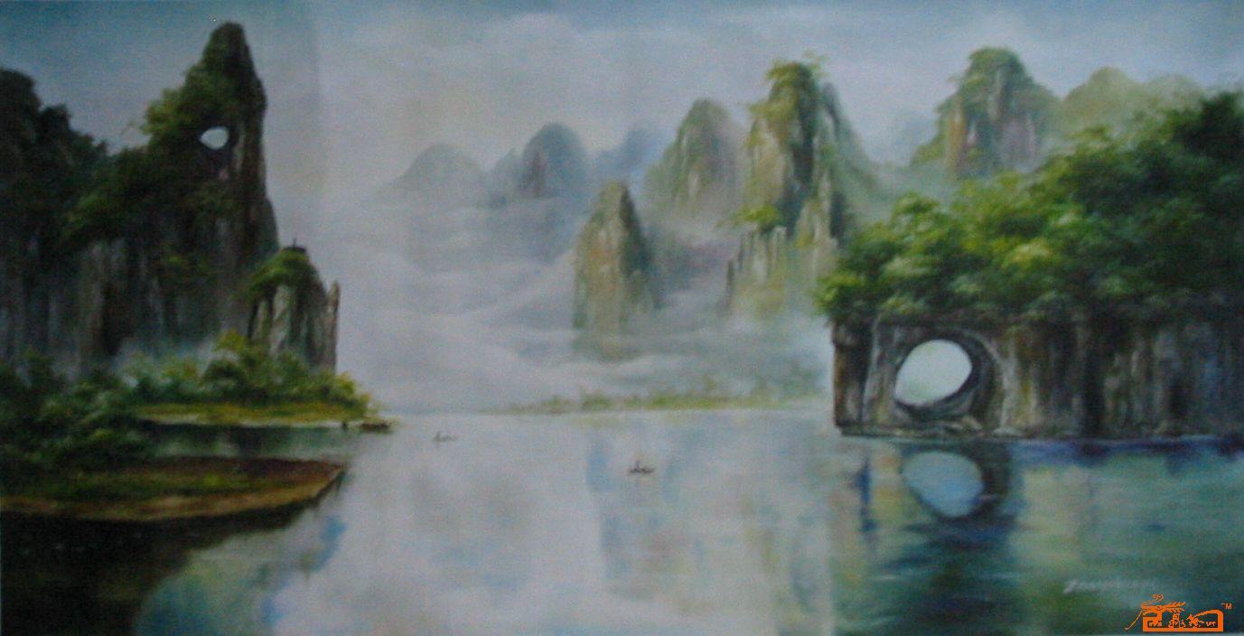 张顺义美术作品aaalb0065桂林山水