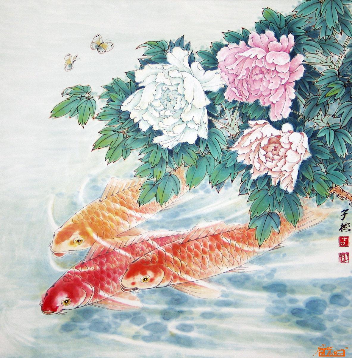 前程似锦-吉子榕-淘宝-名人字画-中国书画交易中心
