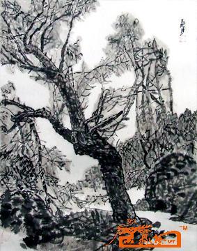 名家 王飞沙 山水 - 小梨树 当前 位粉丝喜爱本幅作品
