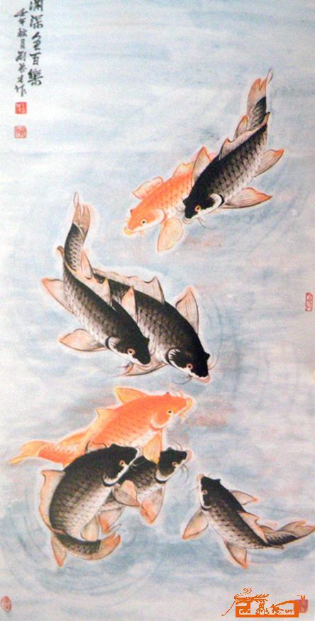 刘典才-渊深鱼百乐-淘宝-名人字画-中国书画交易中心