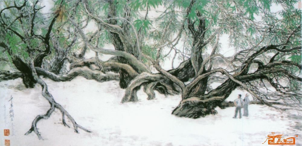 柳树的枝干画法
