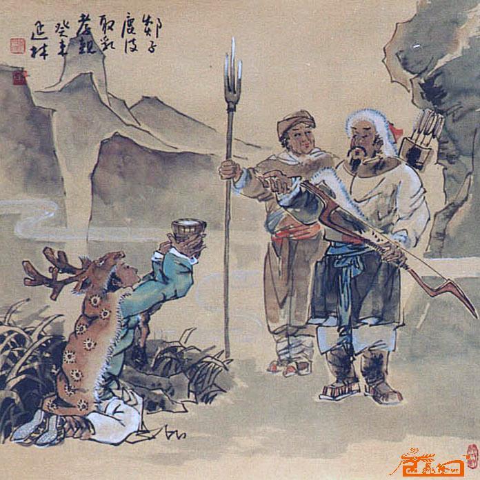 中国24孝图手绘素材