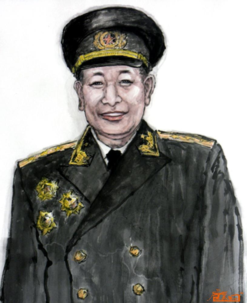 刘明海-钟期光上将像(头像)-淘宝-名人字画-中国书画