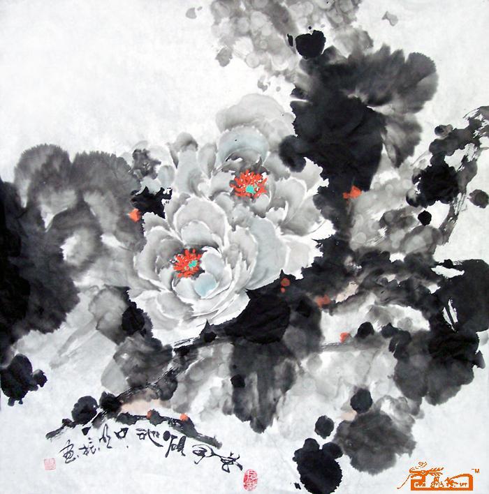 花开砚池中 蔡明振 中国书画服务中心图片