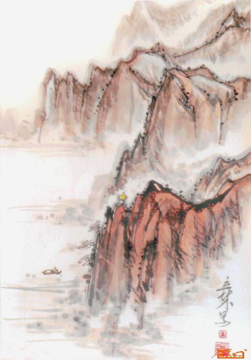 陆立林-云雾江岸-淘宝-名人字画-中国书画服务中心