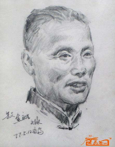 杜红早-素描头像1-淘宝-名人字画-中国书画交易中心