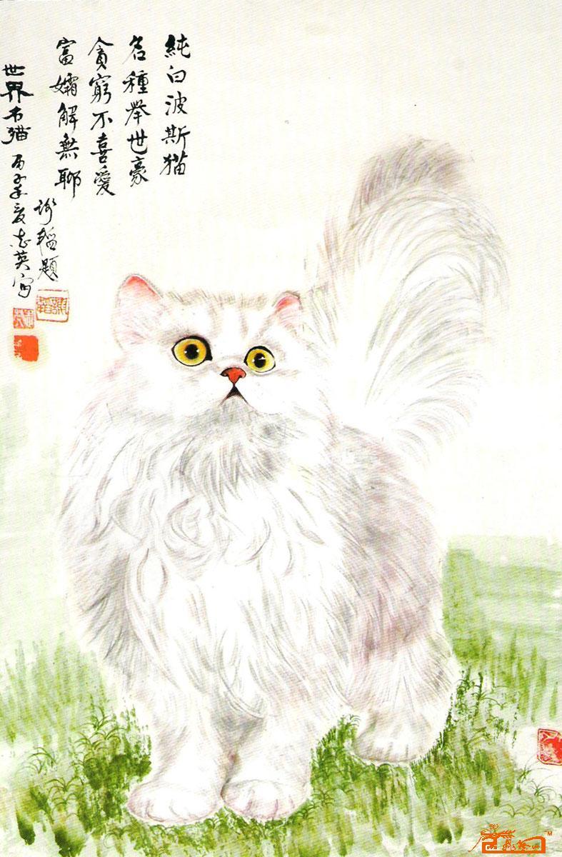 刘志英-纯白波斯猫-淘宝-名人字画-中国书画交易中心