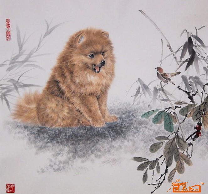 作品欣赏(654)唐坚工笔画动物