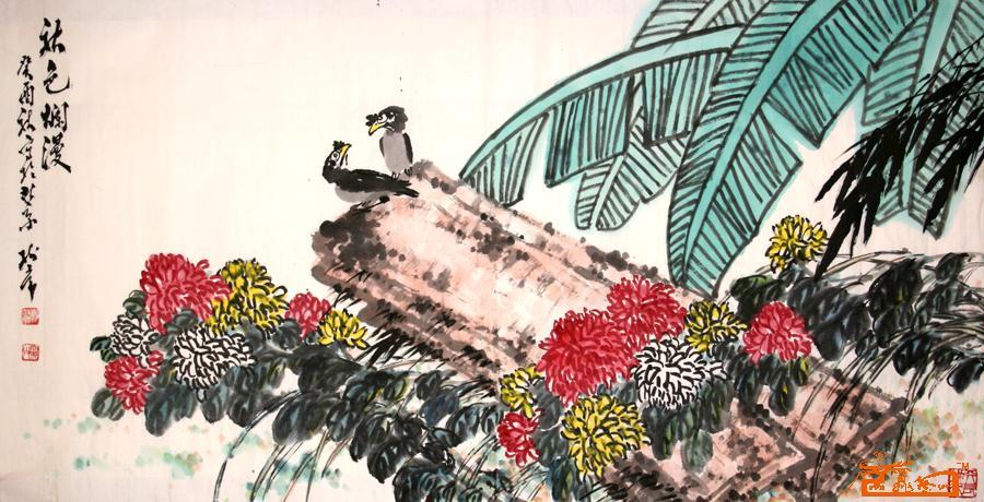 国画专长名家杨树常作品保真鉴赏视频