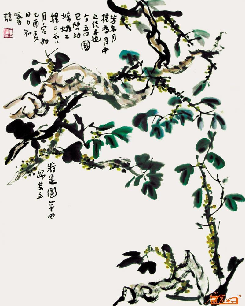 桂花-李力知-淘宝-名人字画-中国书画交易中心,中国,.