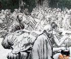 《僧人与苏油茶》-纸本水墨