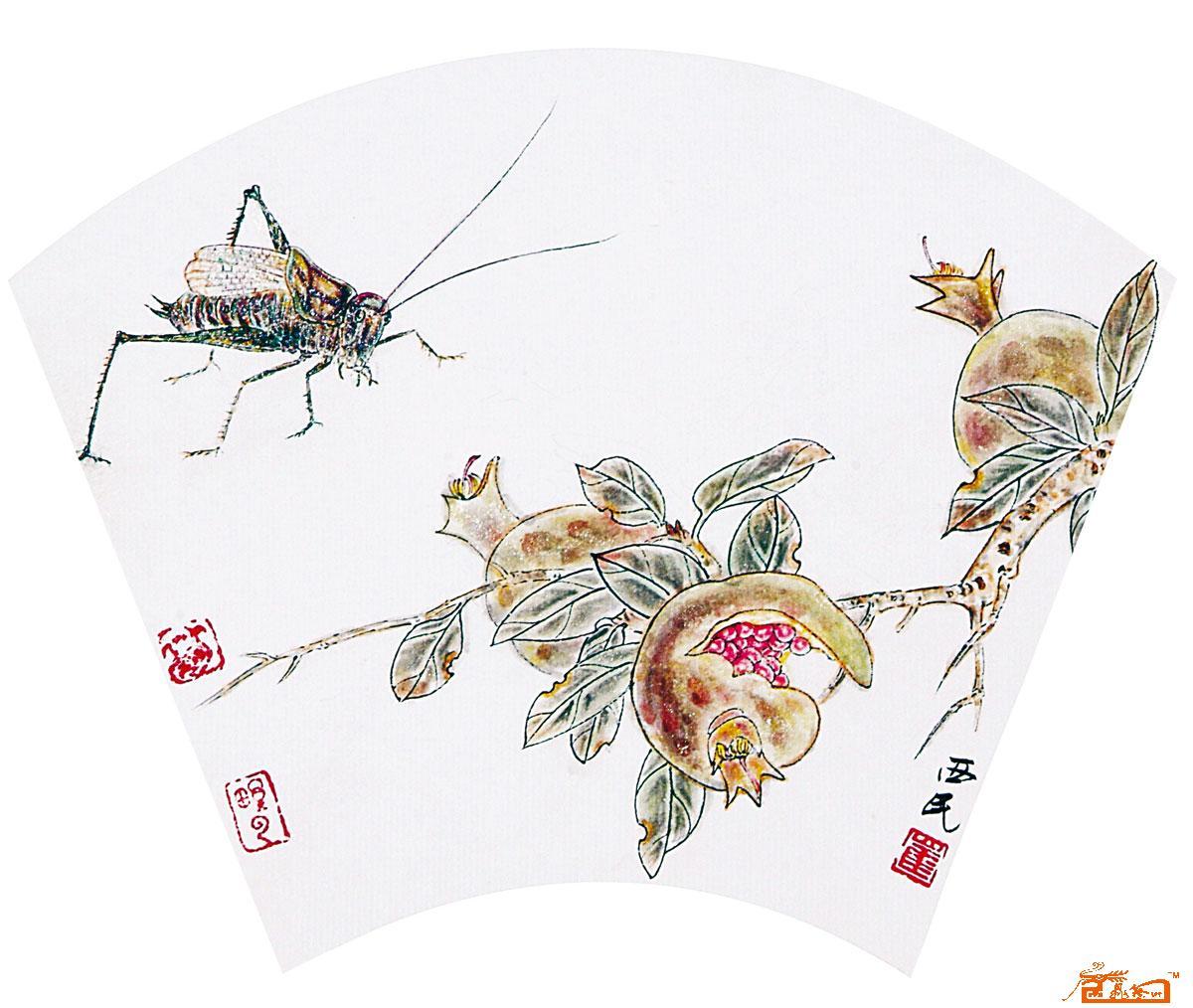 崔西民-石榴-淘宝-名人字画-中国书画交易中心,中国,.