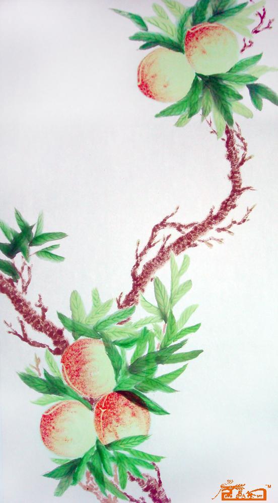 汉奇-帛画桃子2-淘宝-名人字画-中国书画服务中心图片