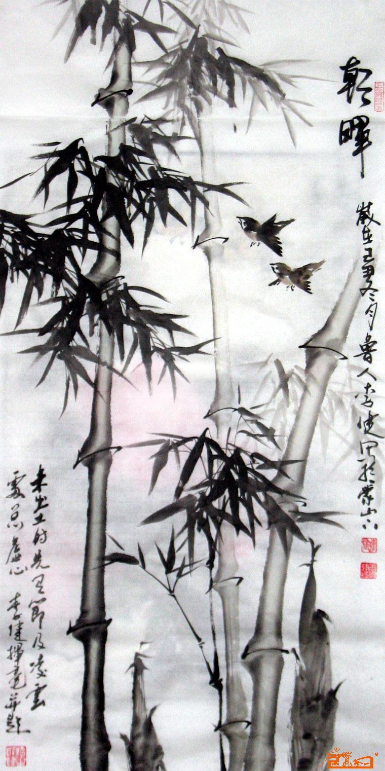 竹子铅笔手绘图片