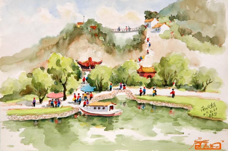 风景水彩画教程步骤