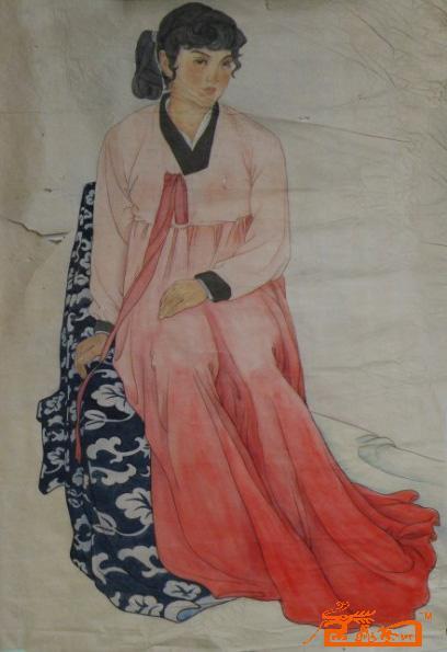 黄壮-工笔淡彩人物画像-淘宝-名人字画-中国书画服务