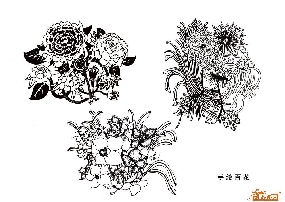 黑白装饰画动物虫子