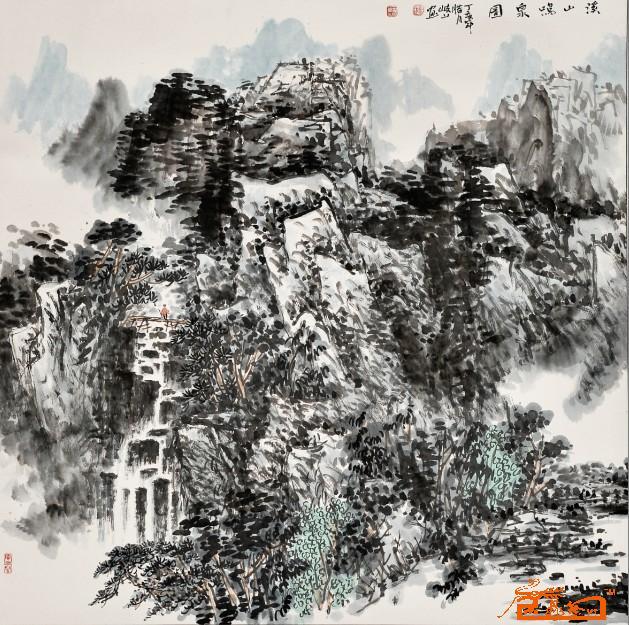 卫星陕西岐山地图