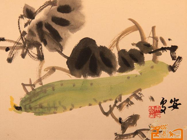 作品104来楚生 丝瓜 - 中国著名美术馆 文苏堂国际艺术画廊作品交易平图片