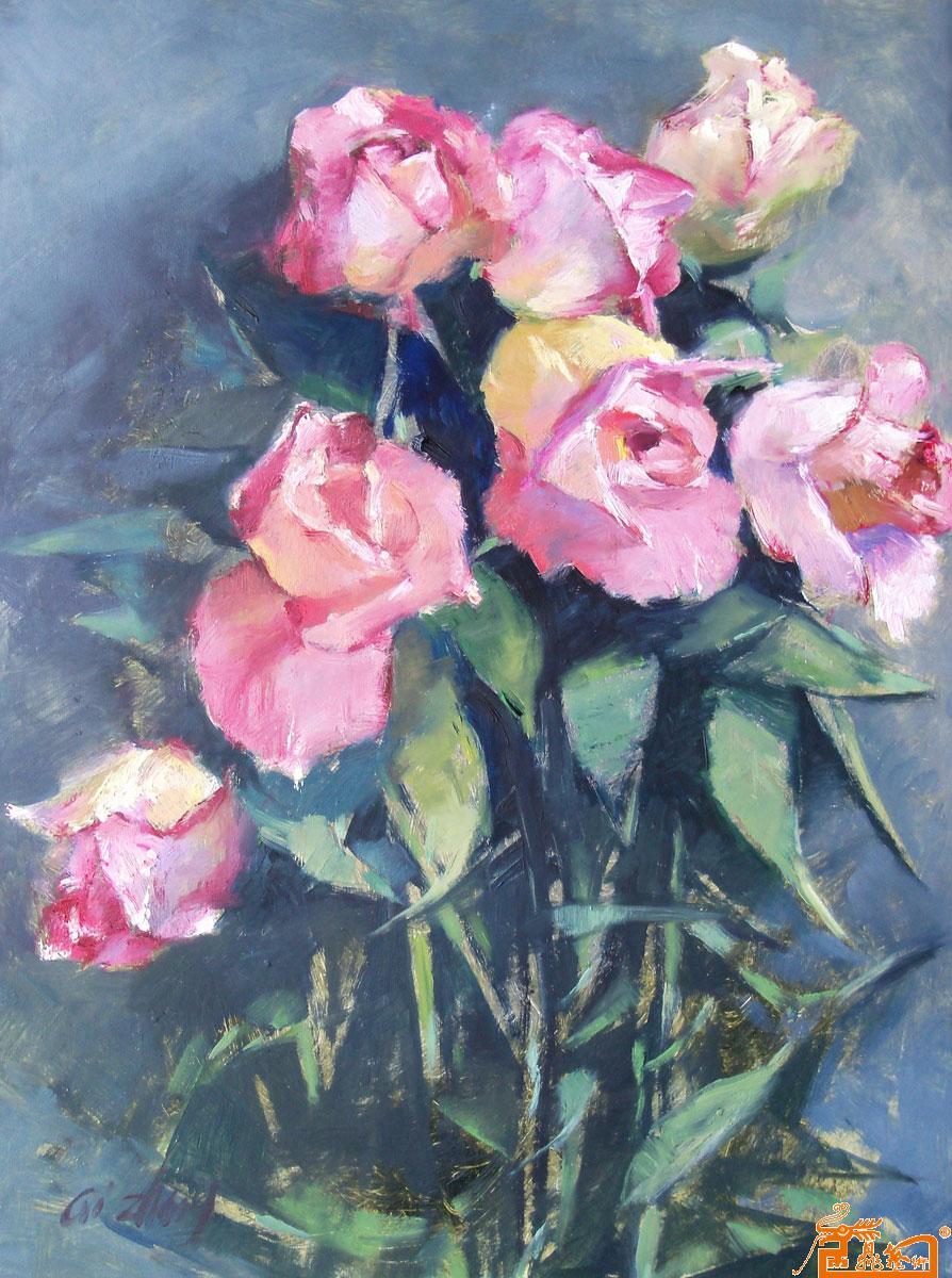 花卉油画创作素材照片