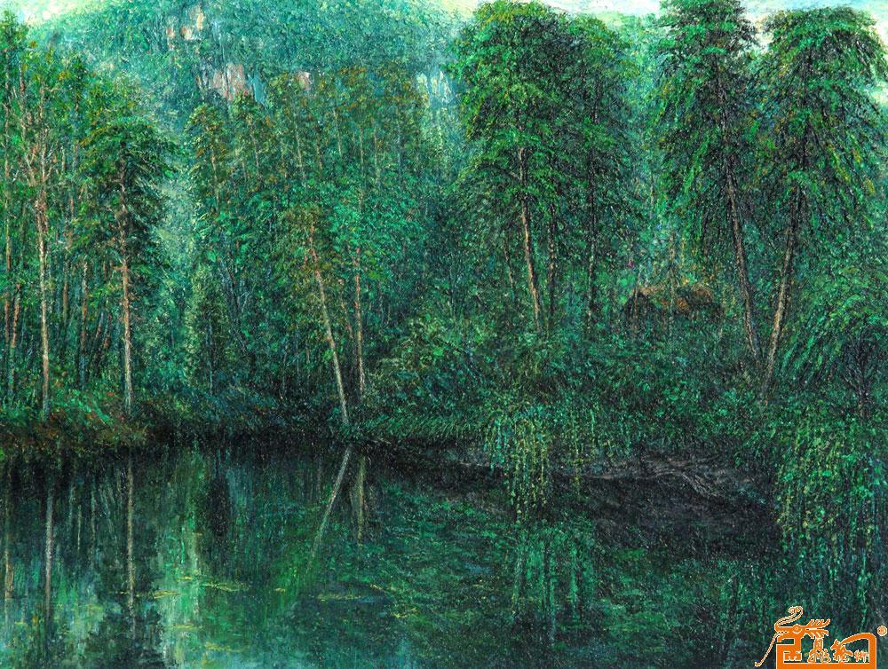名家 刘狄洪 油画 - 作品16森林一角