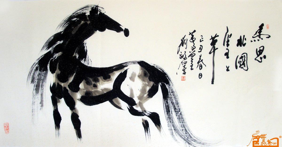 名家 刘福泽 花鸟 - 作品69大写意马