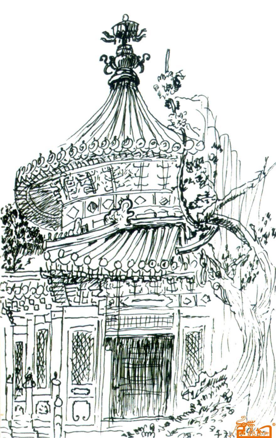 故宫平面图简笔画步骤