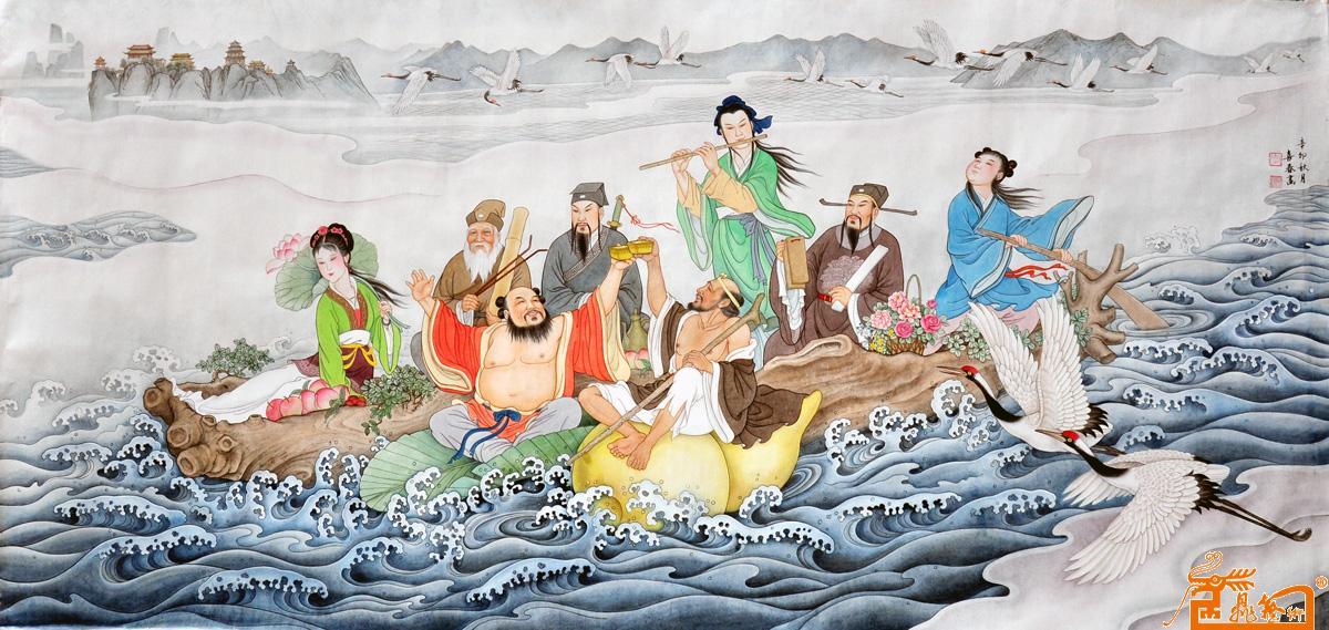 八仙过海-李喜春-淘宝-名人字画-中国书画交易中心