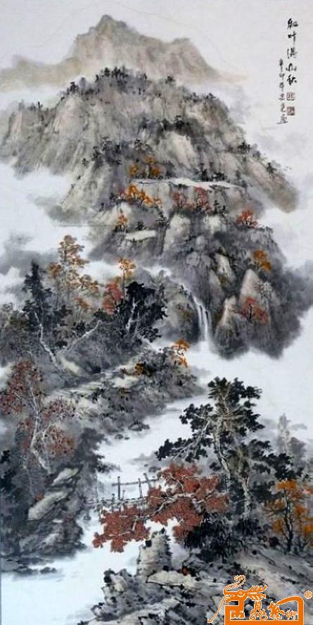 在中国山水画的探索中辛勤耕耘四十余年