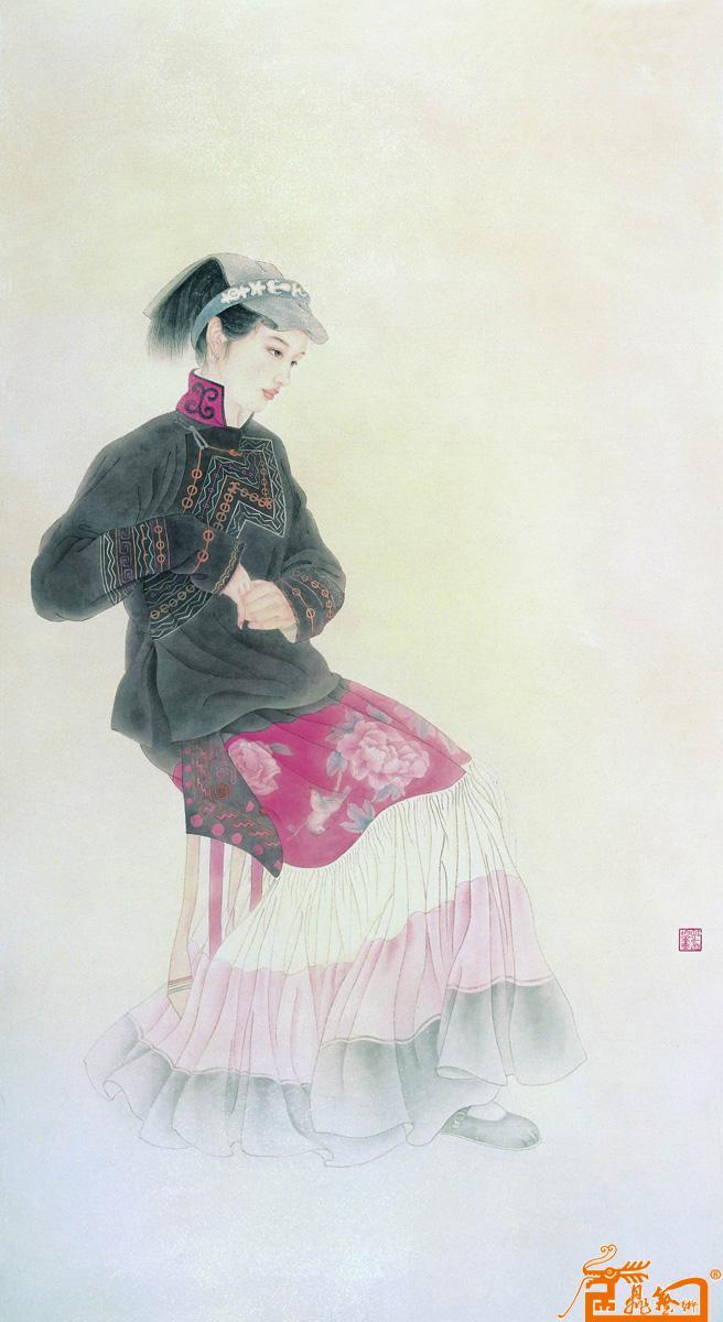 彝族人物手绘图片