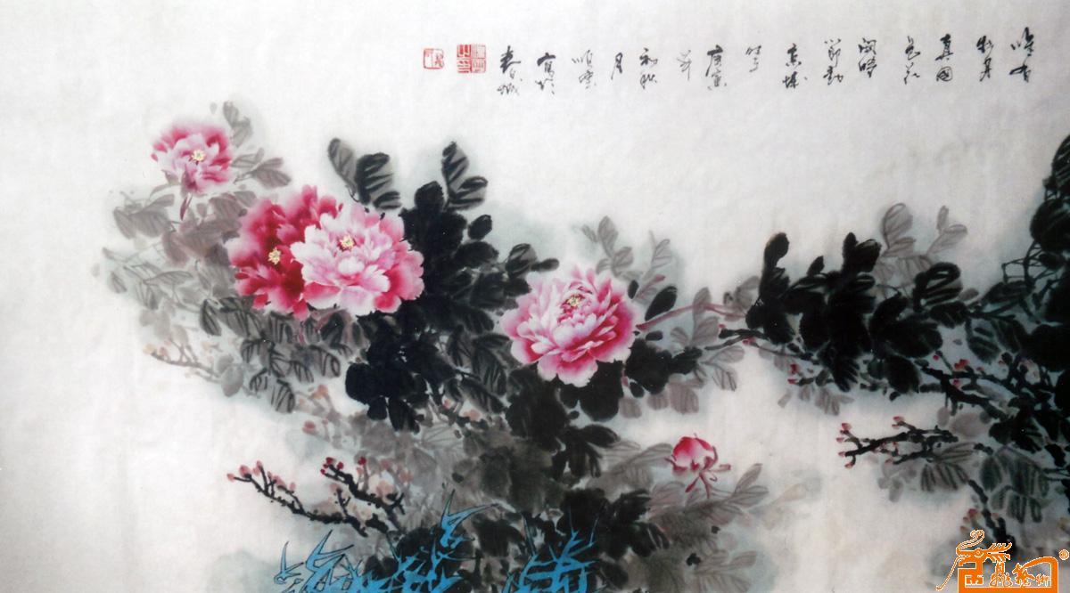 龙顺云-作品67国色天香(中国书画家联谊会收藏)-淘宝图片
