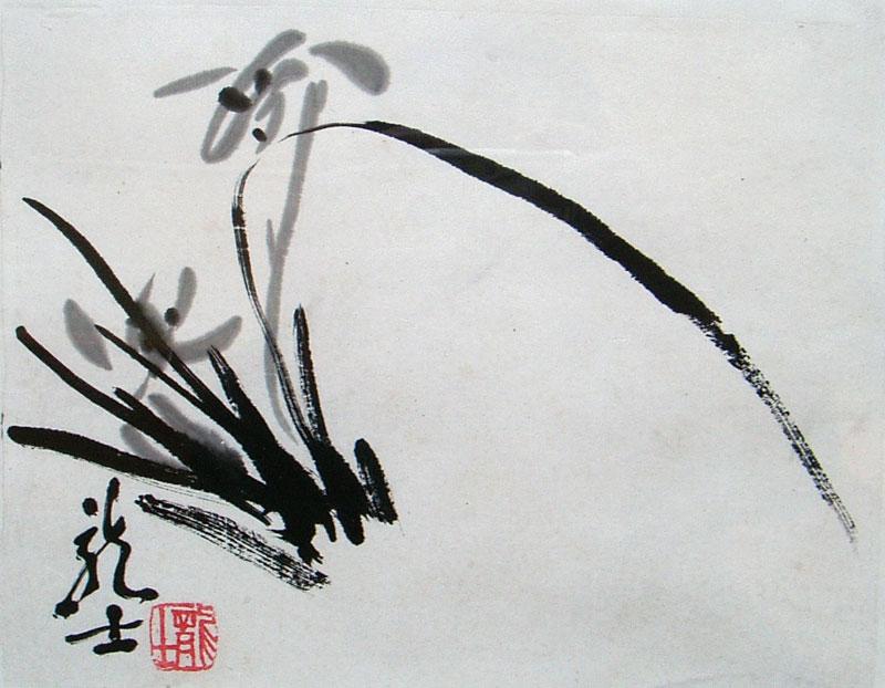 齐白石兰花步骤图