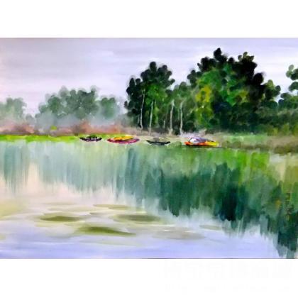 余建明 风景 类别: 水粉画|水彩画x