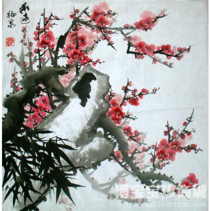 刘福泉-刘福泉福泉国画梅花图