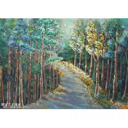 名家 康文龙 油画; - 康文龙 小树林 类别: 综合绘画 当前 位粉丝喜爱