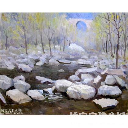 油画;杂项;名家 王本起 - 王本起 太行山风景1 类别: 风景油画