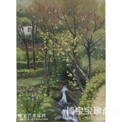 名家 折兰人 油画;当代艺术;水彩; - 折兰人 太行秋景 类别: 风景油画