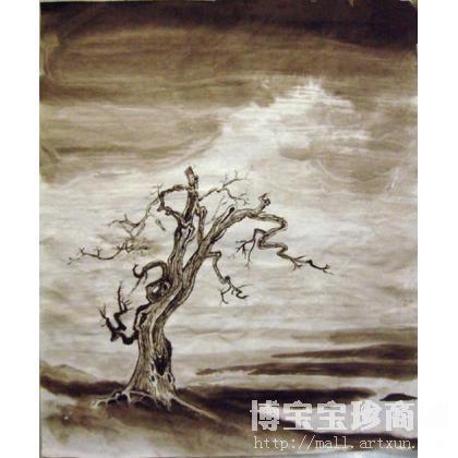 名家 竹涛 国画;杂项; - 竹涛 枯树 类别: 当代水墨画