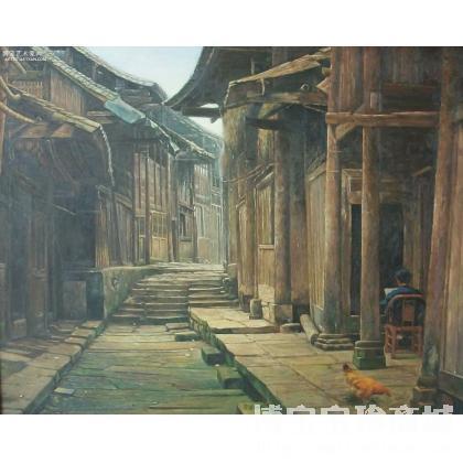 名家 康漠 油画;当代艺术; - 康漠 《静谧家园》 类别: 风景油画