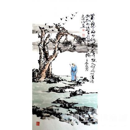 名家 张震方 国画;书法; - 写意山水《秋思图》 类别: 国画山水作品