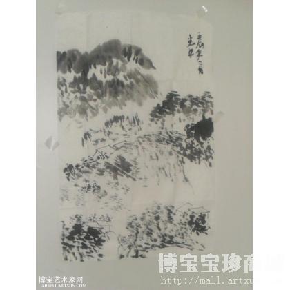 一件传统文人画的风格画,书写的绘画语言,抒情性的浪漫主义美学表现淋漓竟至