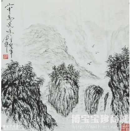 陈念伟山中鸟更鸣 山水画作品 类别: 国画山水作品