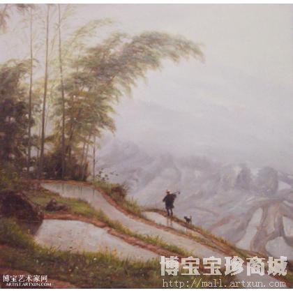 擅长写实风景,动物等油画,以浪漫写实主义画风,追求雅俗共赏.