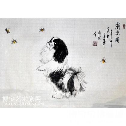 国画犬 写意国画猫狗 张红玫作品 类别: 写意国画猫狗