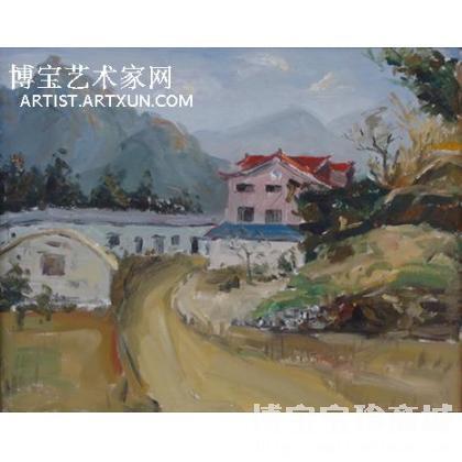 汪荣光 红房子 类别: 风景油画