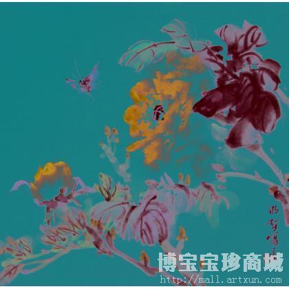 宋文志 牡丹图 类别: 写意花鸟画