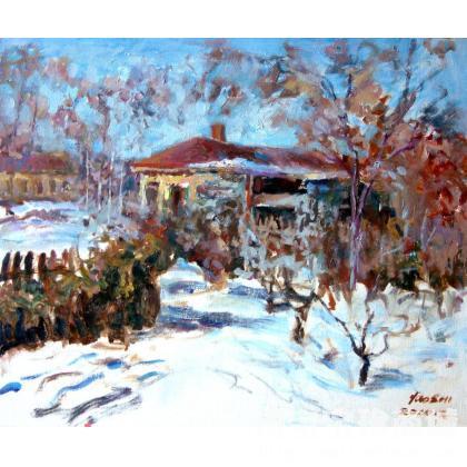 王耀时 太阳岛的冬天 类别: 油画x
