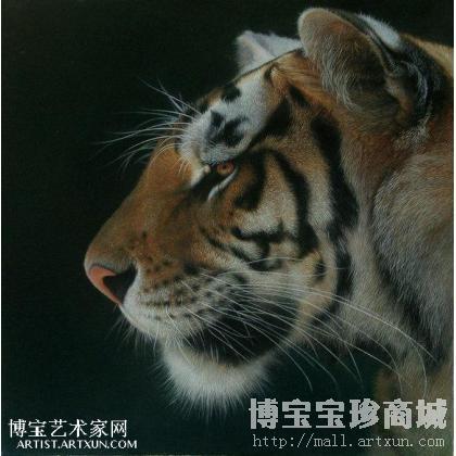 [] 张森 虎 类别: 动物油画