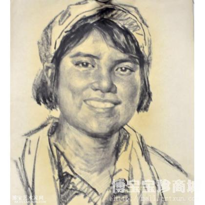 肖像1 人物画 童介眉作品 类别: 国画人物作品