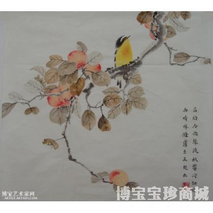 《秋实》 花鸟画 吴晓红作品 类别: 国画花鸟作品
